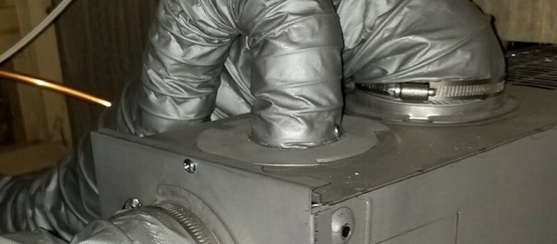 Image of RV furnace and ducting